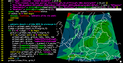 GDL plotting weather-forecast map from a GRIB file with the GFS model output
