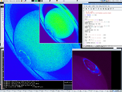 GDL rendering two HST images of Saturn (FITS files read with